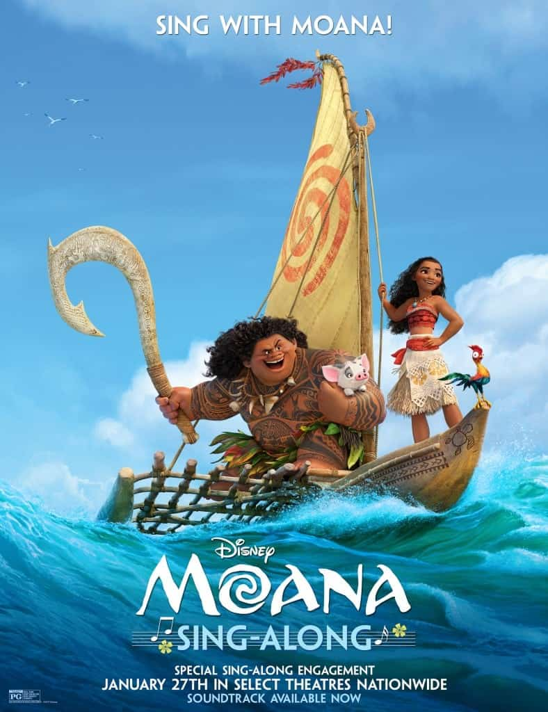 Sing with Moana in a new release of a Moana sing-along version on January 27
