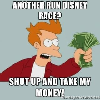 RunDisney Race Registration Meme
