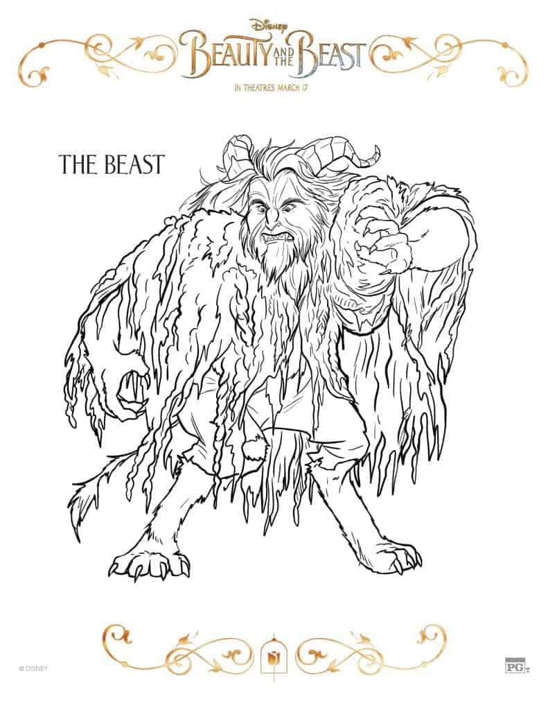 Beauty and the Beast Coloring Pages - The Beast