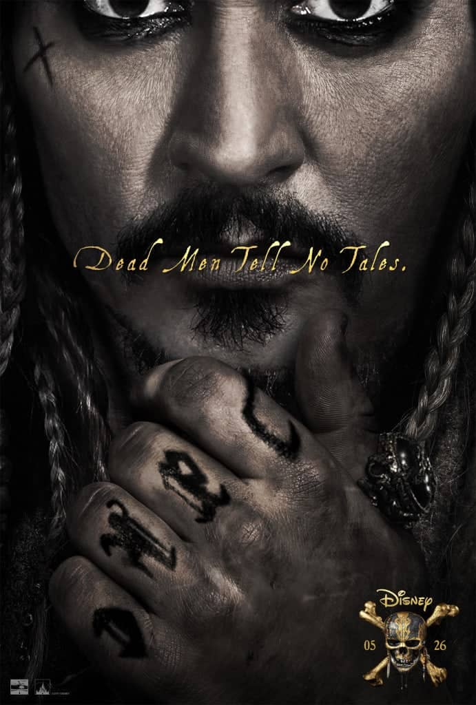 Johnny Depp stars in Pirates of the Caribbean: Dead Men Tell No Tales!
