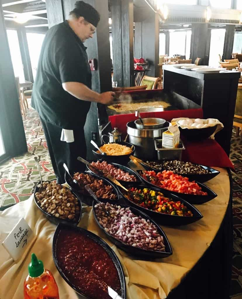 Get a homemade omelette made at Lakeview Restaurant at Shanty Creek in Traverse City, Michigan!