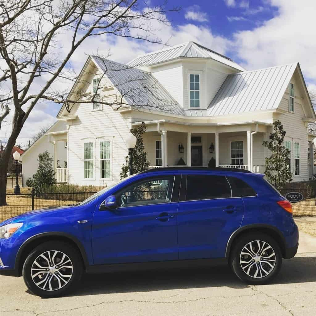 Mitsubishi Outlander Sport and Magnolia House in Waco, TX