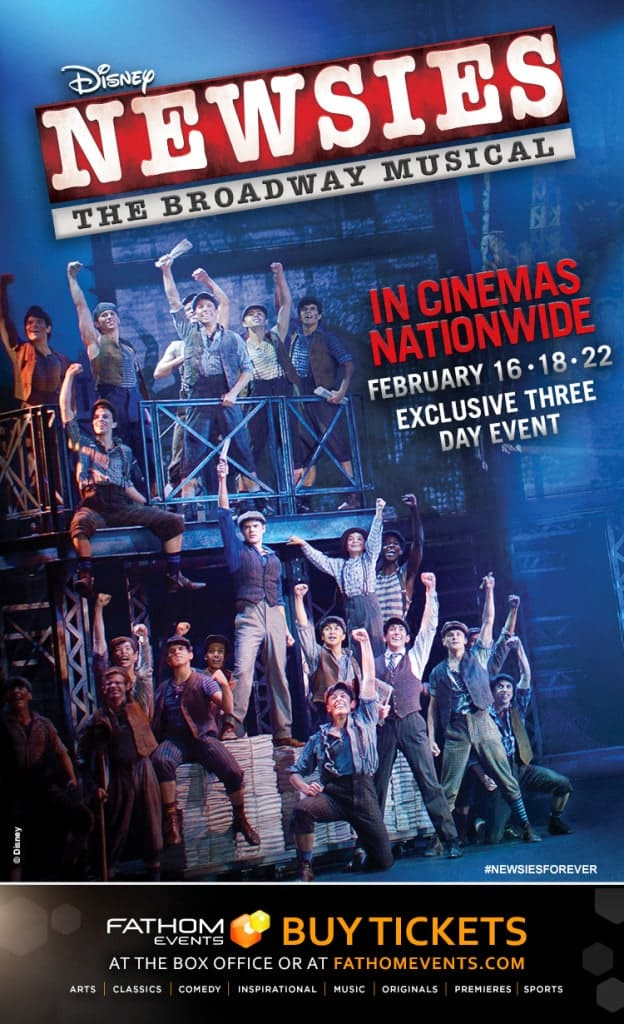Win Newsies tickets with a giveaway for the Newsies Broadway production in theaters!