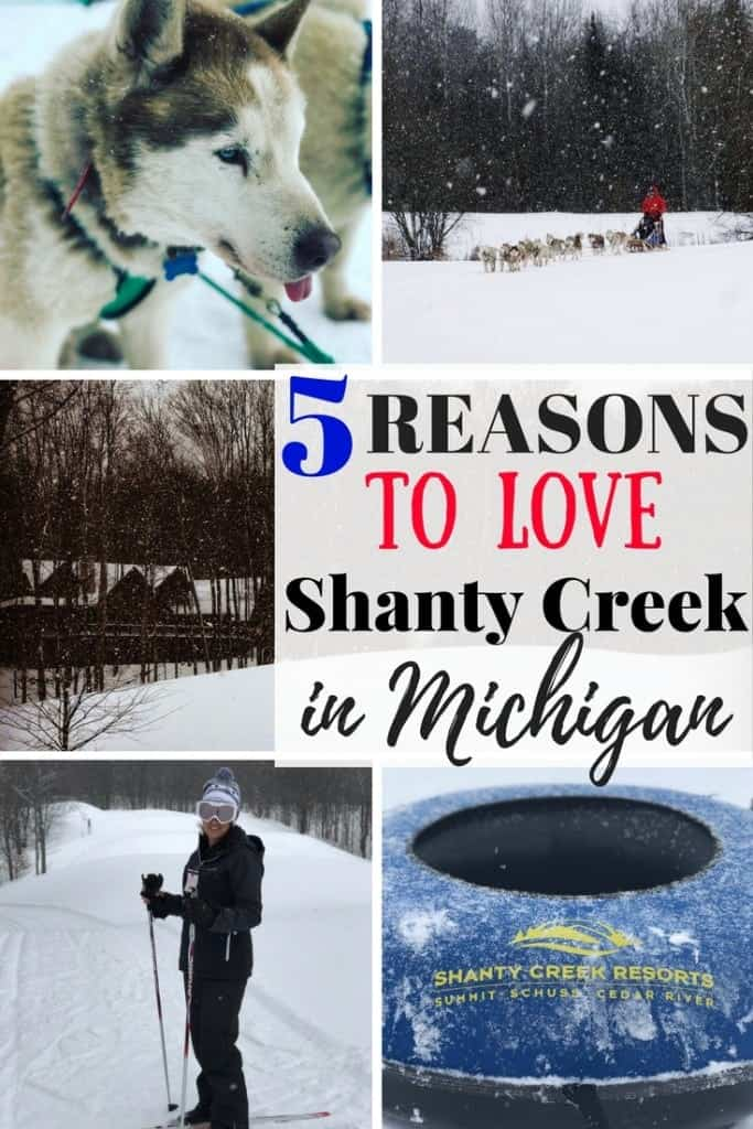 I've got 5 reasons you'll love Shanty Creek Resorts near Traverse City, Michigan! It's a great family resort for kids of all ages. So many snow activities including skiing, fat tire biking, tubing, and dog sledding. Add this to your family travel list for some winter fun!