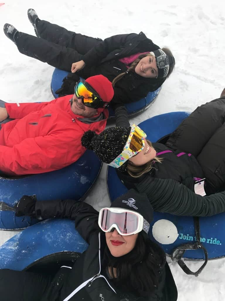 You can go tubing with groups of friends at Shanty Creek Resorts, too!