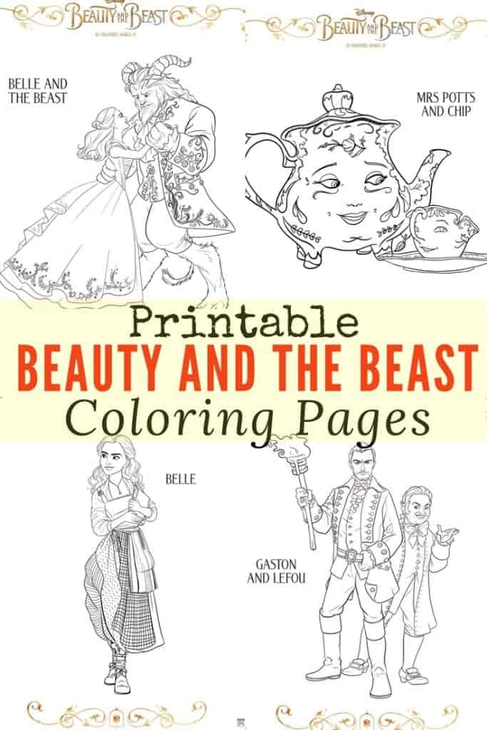 Get ready for Disney Beauty and the Beast movie in theaters March 17! Here are printable Beauty and the Beast coloring pages of all your favorite characters including Emma Watson as Belle and Josh Gad as Lefou. Perfect for kids and adults for family fun and crafts!