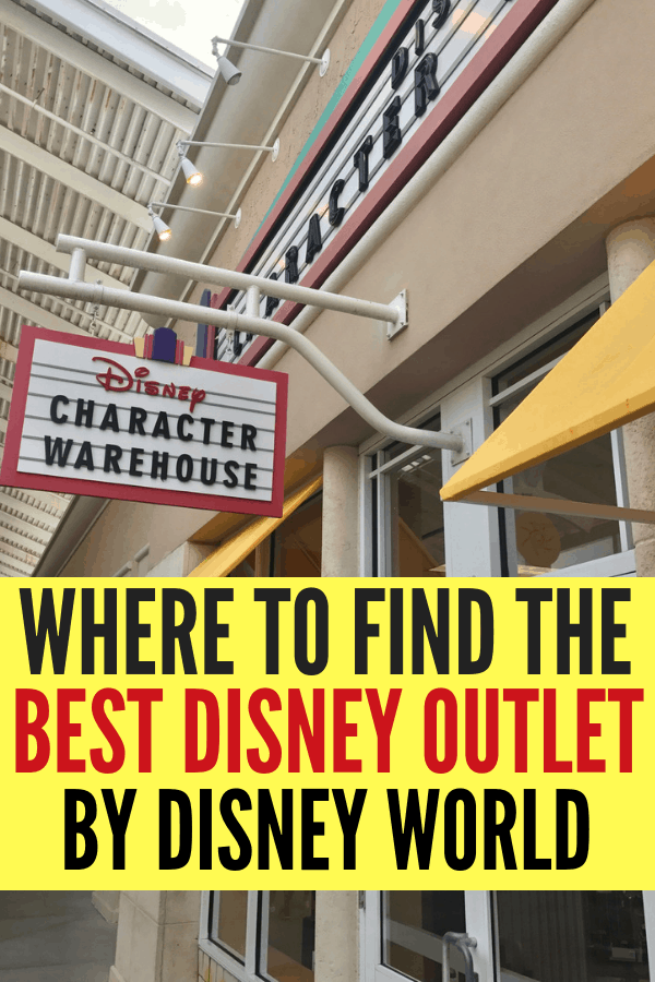 Save money at the best Disney Outlet closest to Walt Disney World! You can save up to 80% off on Walt Disney World Theme Park merchandise at the Character Warehouse near Disney Springs. #DisneyOutlet
