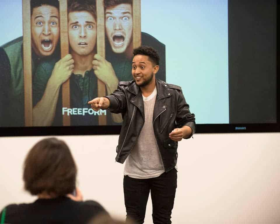 Tahj Mowry from Baby Daddy Season 6 playing Baby Charades with us at a baby shower themed luncheon!
