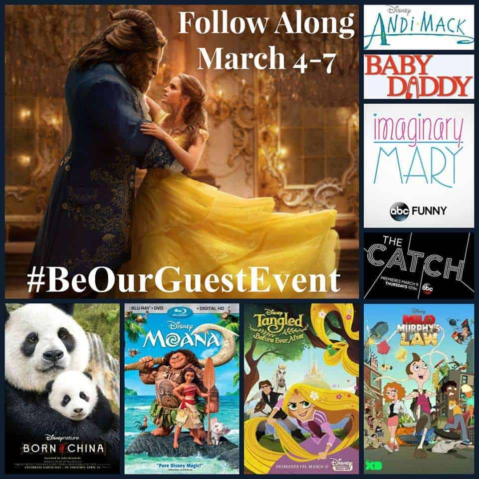 Follow along March 4 - 7 as 25 bloggers head to L.A. for the Be Our Guest press event for Beauty and the Beast!