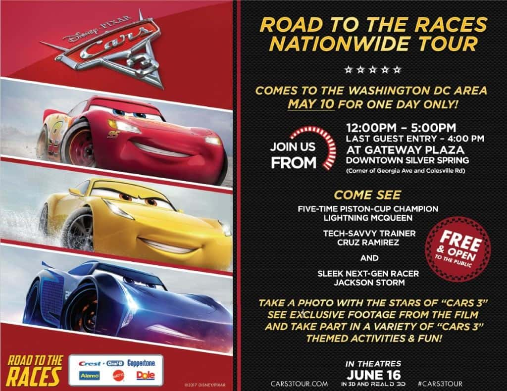 The Road to the Races Nationwide Cars Tour will be rolling into Washington D.C. on May 10, 2017! Ka-Chow!