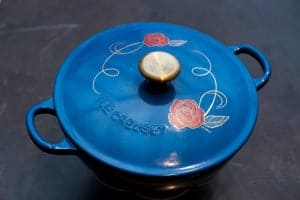 Cooking With Le Creuset Beauty and the Beast Soup Pot at Williams Sonoma #MyWilliamsSonoma