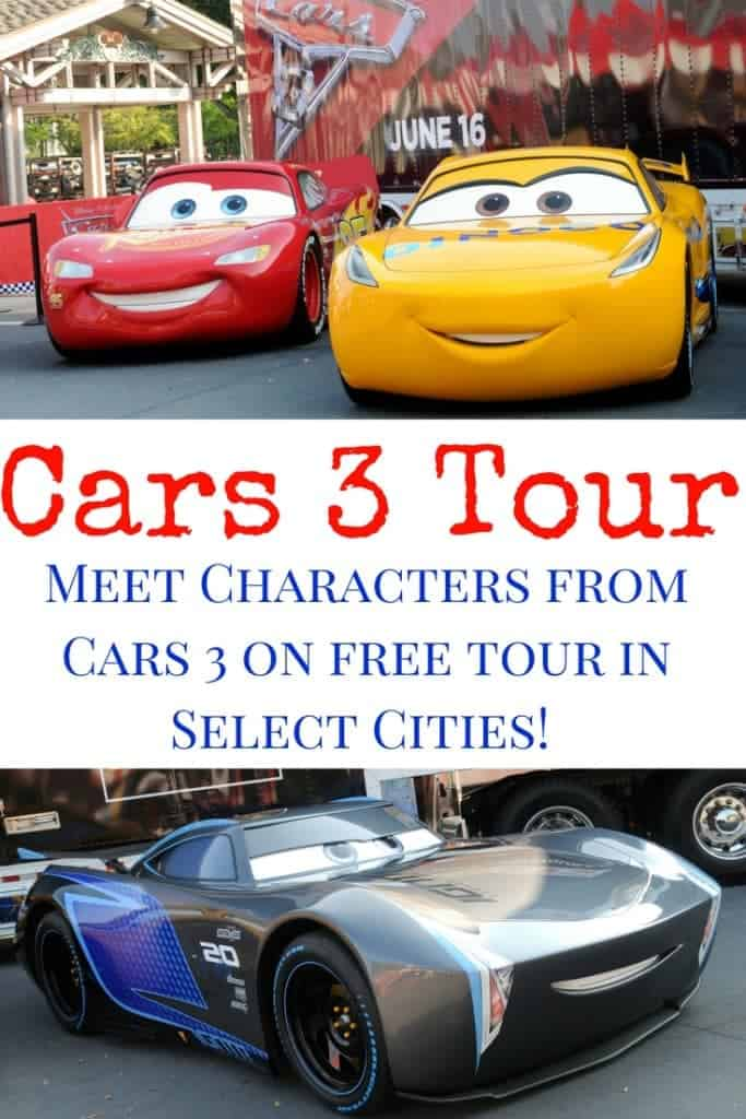 Come check if the FREE Road to the Races Cars 3 tour is coming to your city! All you race fans can meet the characters from Disney Pixar's Cars 3 like Lightning McQueen and Jackson Storm! Free fun for the whole family.