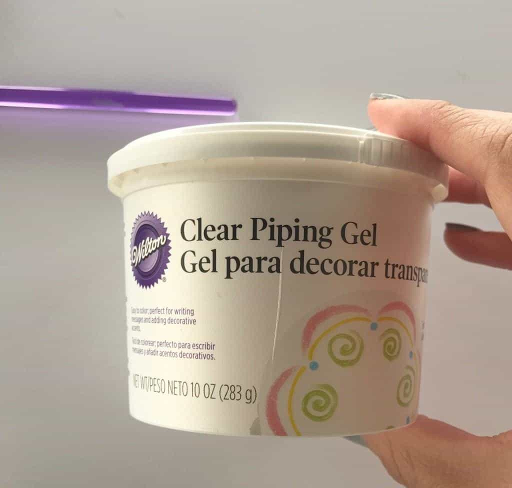 Clear piping gel can be used as a pie hack for Pi Day.