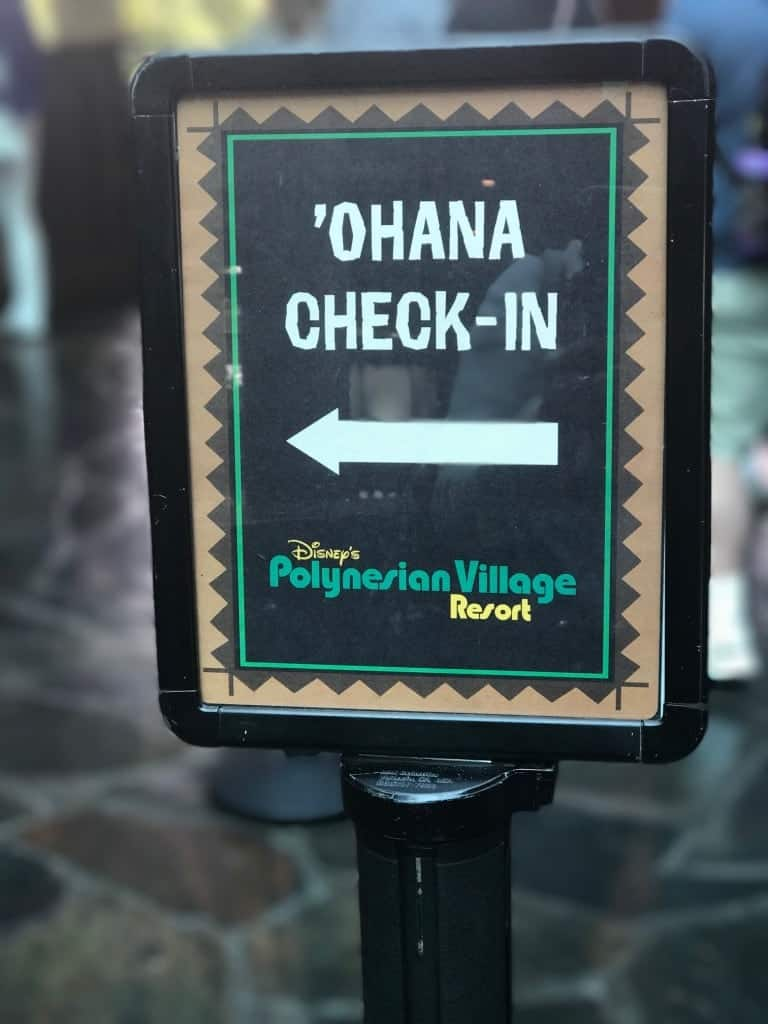 Check in for 'Ohana Disney World on the top level of Disney's Polynesian Village Resort.