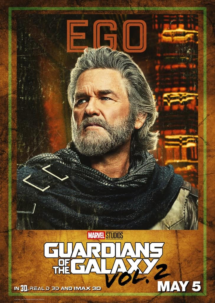 Guardians of the Galaxy Vol. 2 Ego Poster starring Kurt Russell