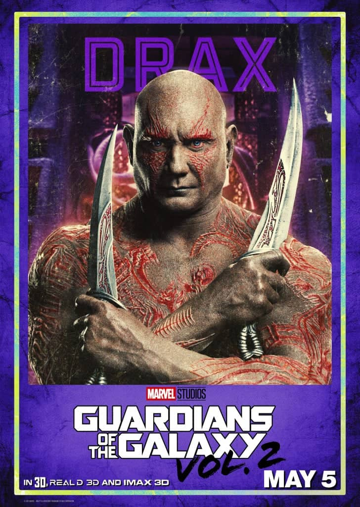 Guardians of the Galaxy Vol. 2 Drax Poster