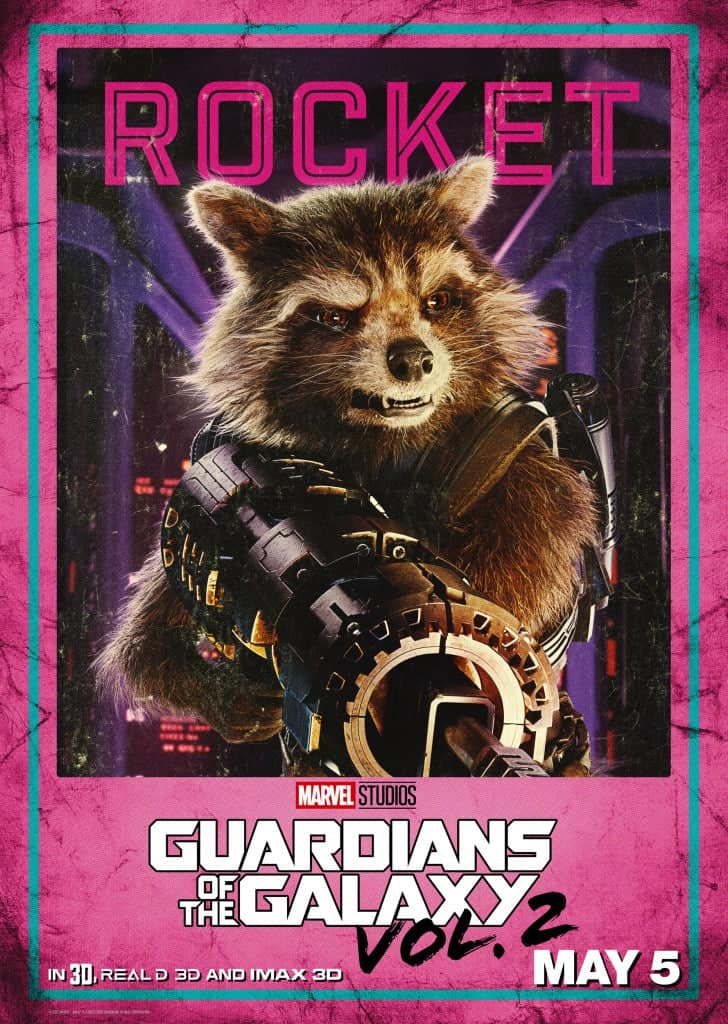 GOTG Vol2 Rocket Movie Poster