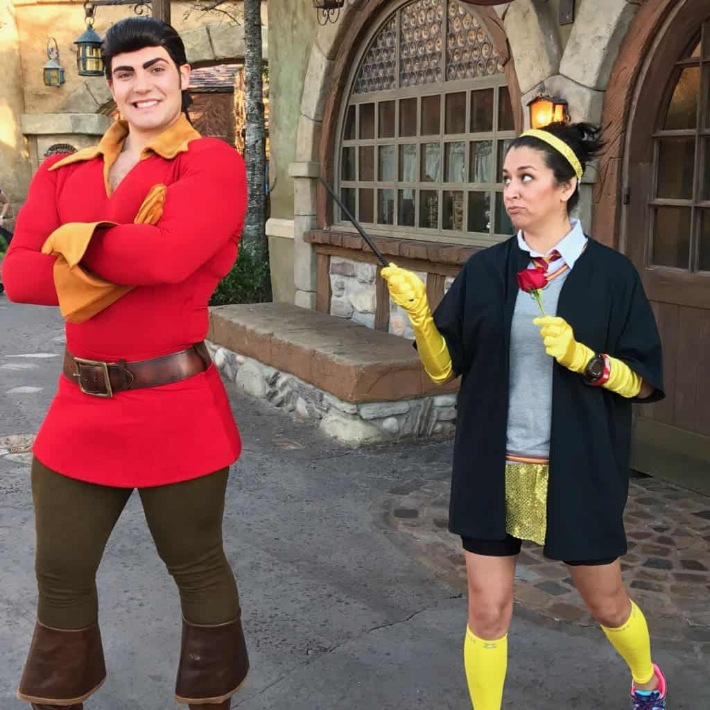 One of my favorite pictures from Princess Half Marathon was with Gaston!