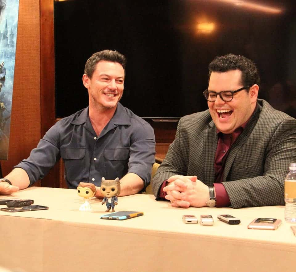 Luke Evans and Josh Gad kept us and themselves laughing throughout the whole interview!