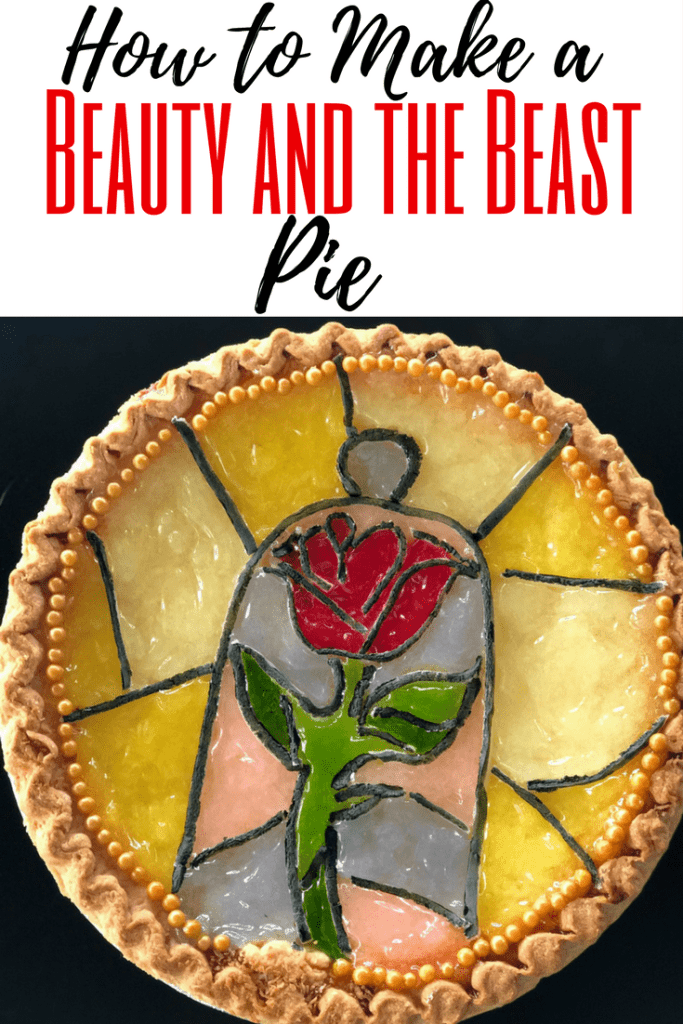 We are loving Beauty and the Beast everything - especially the enchanted rose and stained glass windows. To celebrate Pi Day or to use as a party idea, here are simple steps to make a Beauty and the Beast pie! We use hacks to save time, because I'm a busy mom, too!