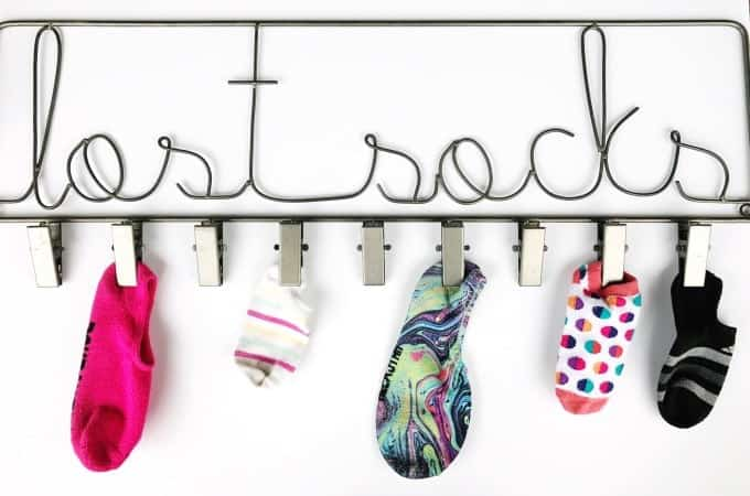 Does anyone else have a lost sock problem? Yeah, us, too. Laundry and lost socks go hand in hand,
