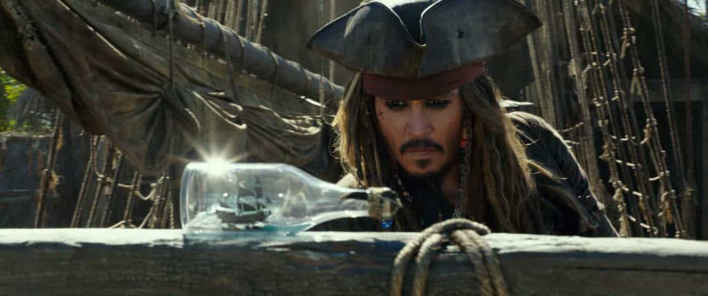 Johnny Depp stars as Jack Sparrow in Pirates of the Caribbean: Dead Men Tell No Tales