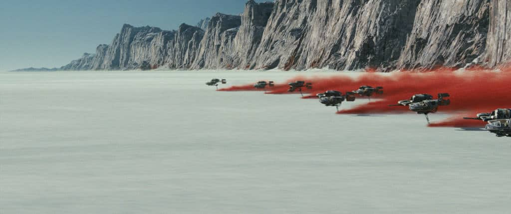 New fleet in Star Wars: The Last Jedi.