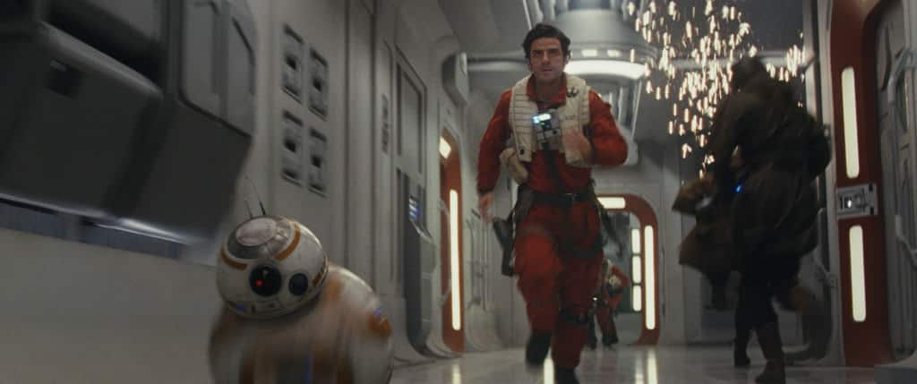 My favorite good guys, Poe and BB-8, in Star Wars: The Last Jedi