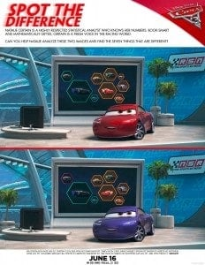 Free Printable Cars 3 Games
