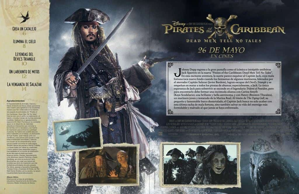 Disfrute del paquete de actividades para Pirates of the Caribbean: Dead Men Tell No Tales.