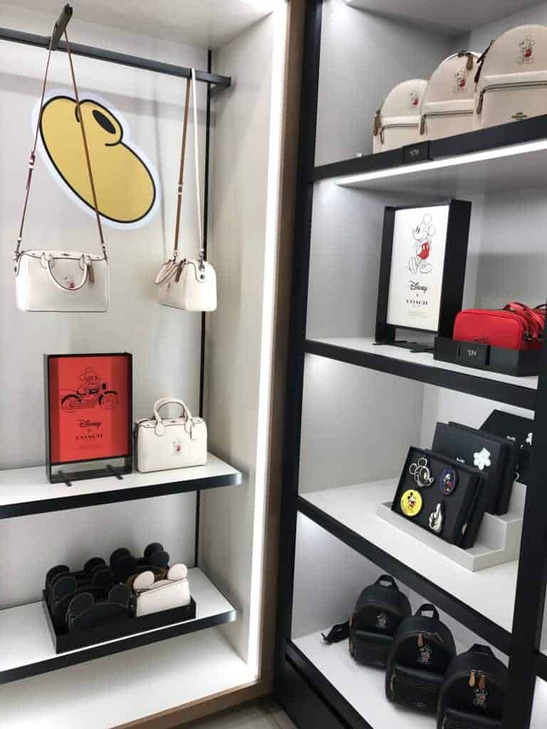Find purses shaped like Mickey Mouse at the Disney x Coach Outlet collaboration.