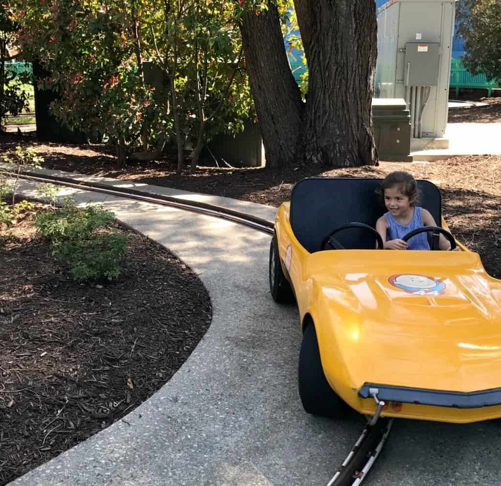Planet Snoopy at Kings Dominion offers tons of kid rides for preschoolers.