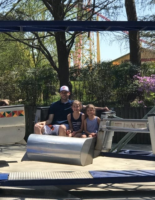Ride the Scrambler together as a family with tweens and preschoolers at Kings Dominion