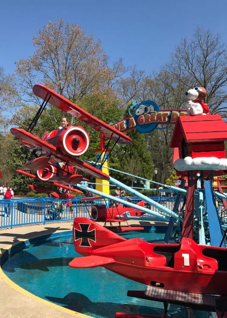 Planet Snoopy offers plenty of rides at Kings Dominion for preschoolers.