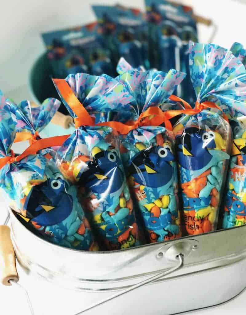 For Finding Dory Party ideas, head to the Dollar Store for inexpensive party favors.