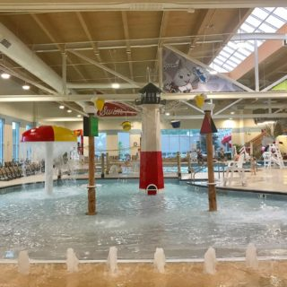 Check out the zero-entry pool at Hershey's Water Works at Hershey Lodge.