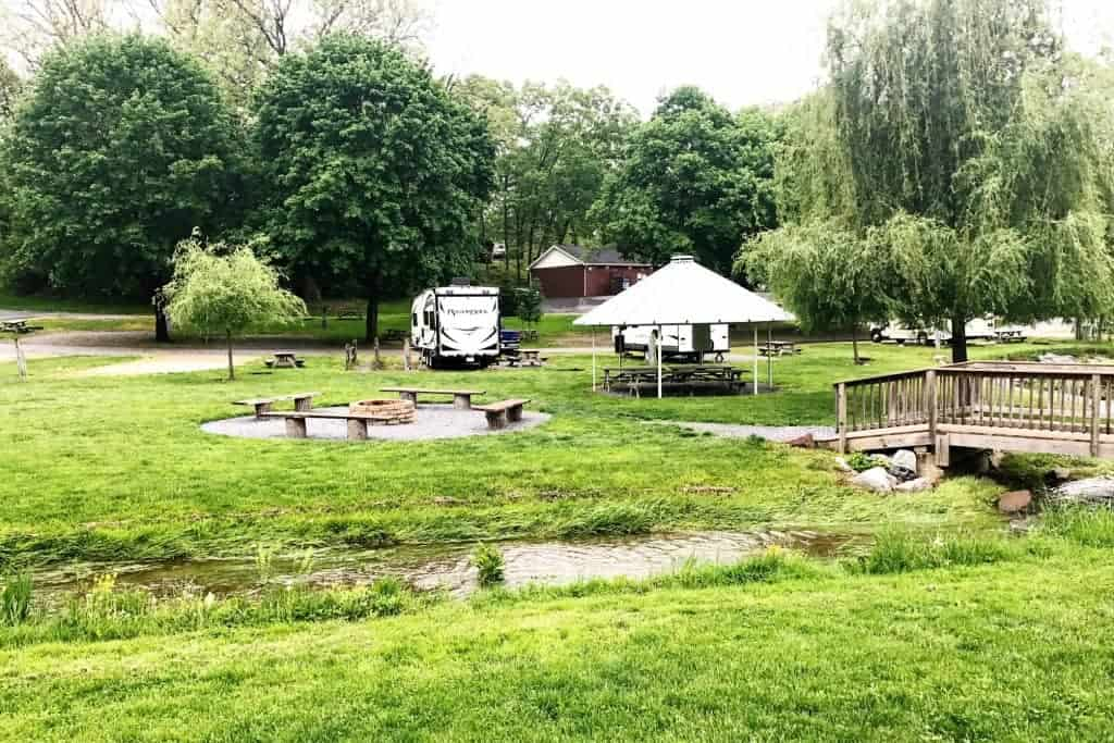 Check out the beautiful campsites at Hershey Park!