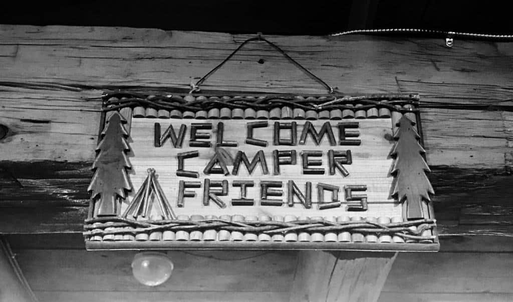 Feel at home with a welcome sign at Hersheypark camping resort.