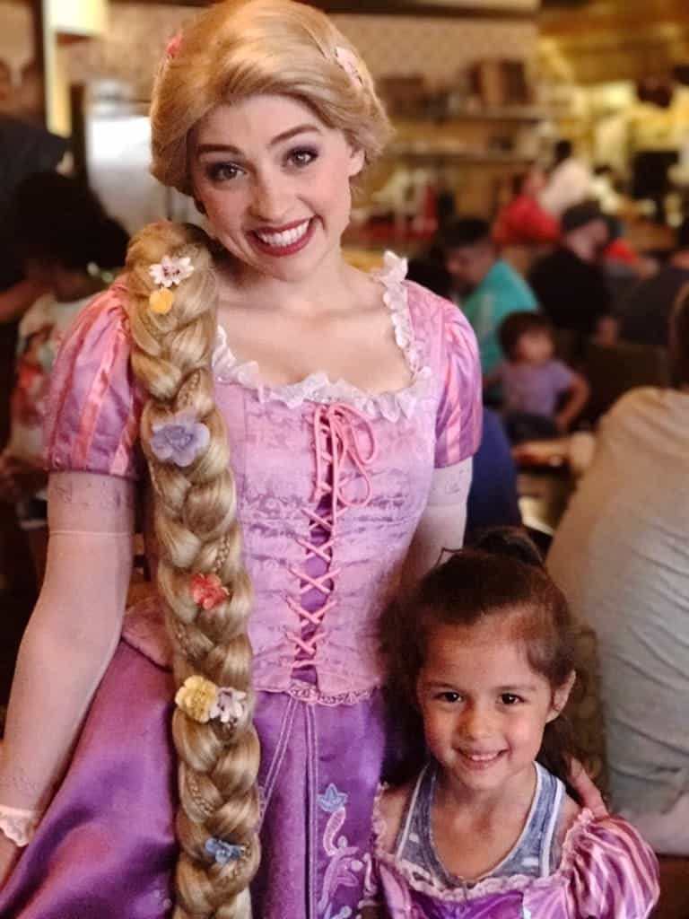 Rapunzel is one of the characters you can meet at the Bon Voyage Character Breakfast on Disney's Breakfast.