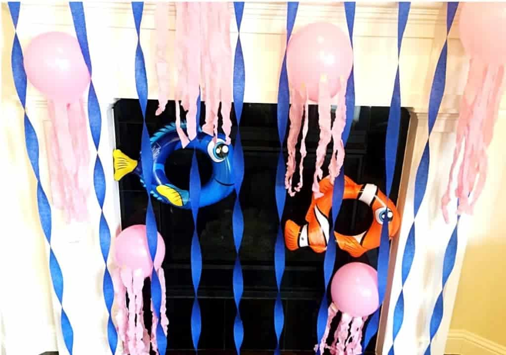 Grab some streamers and balloons to decorate for a Finding Dory Party.