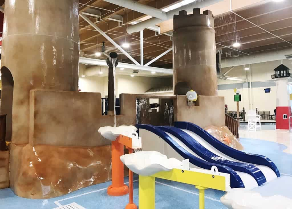 Three is ton for toddlers to do at Hershey's Water Works including small water slides and a castle playground.