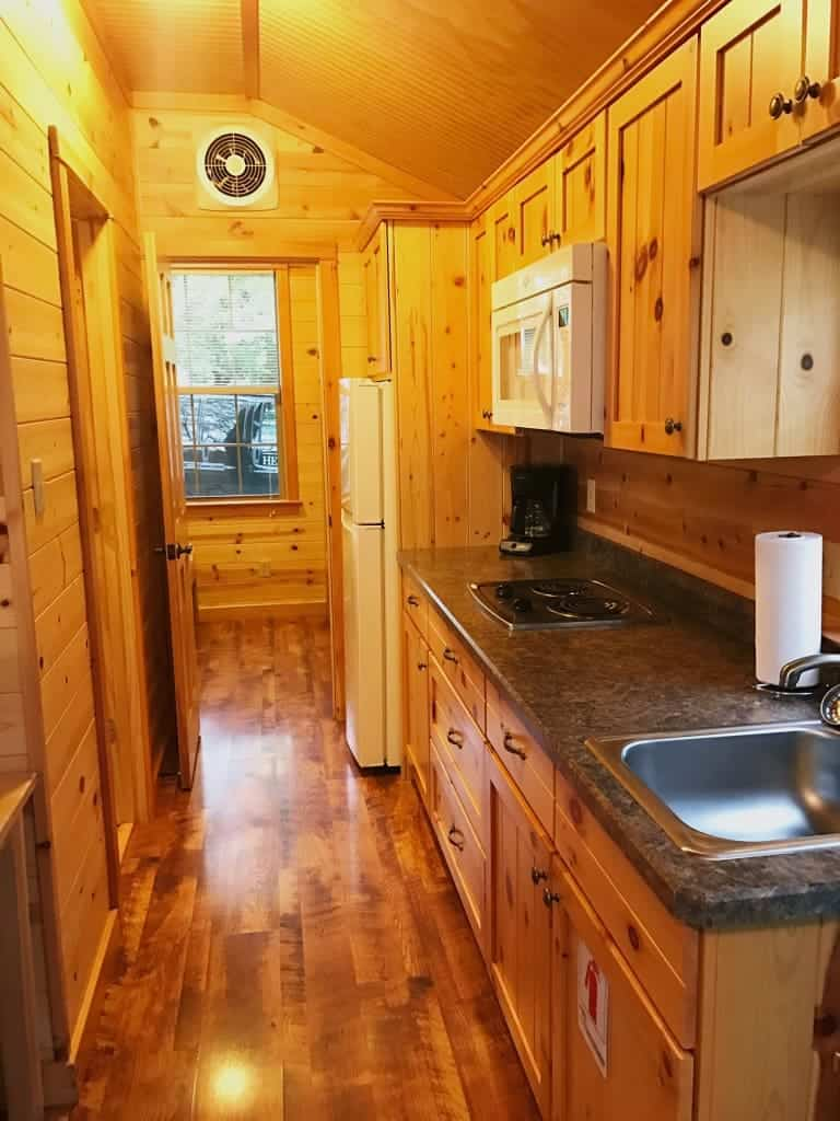 You also get a full kitchenette in a deluxe cabin at the Hersheypark Camping Resort. Make easy breakfasts in the morning to save money.