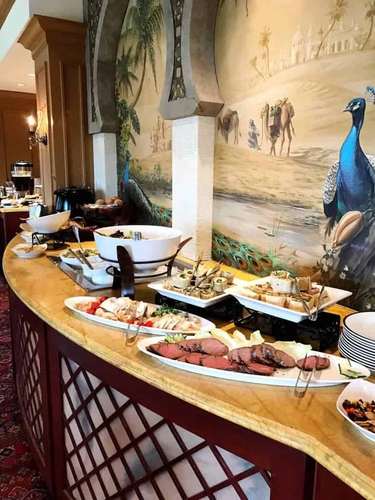 Try the lunch buffet at The Oasis restaurant in The Spa at The Hershey Hotel. Yum!