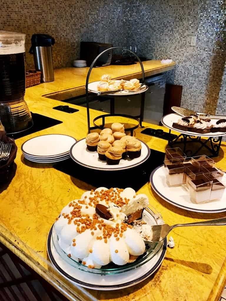 Chocolate and pies galore at The Oasis in the Spa at The Hotel Hershey.