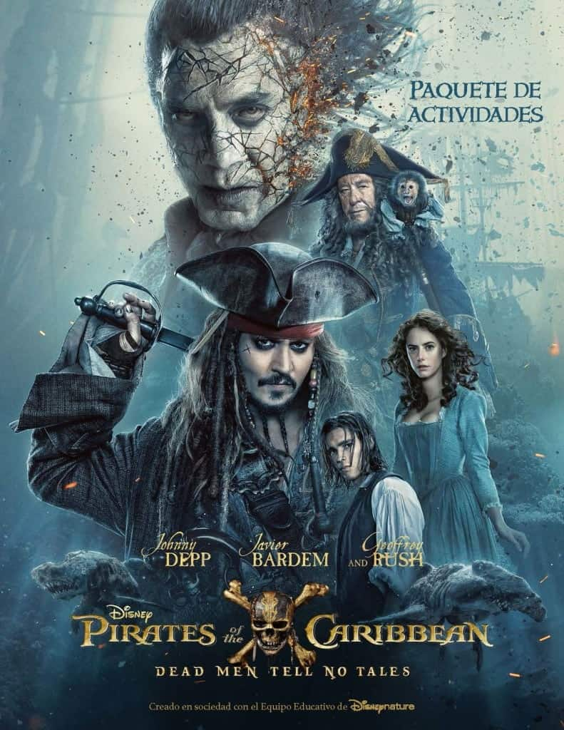 Disfrute del paquete de actividades para Pirates of the Caribbean: Dead Men Tell No Tales!