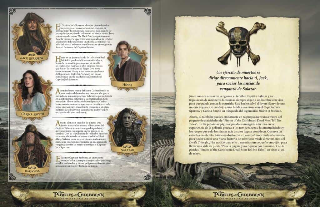 Si eres un fanatico de Pirates of the Caribbean: Dead Men Tell No Tales, aqui esta un paquete de actividades.