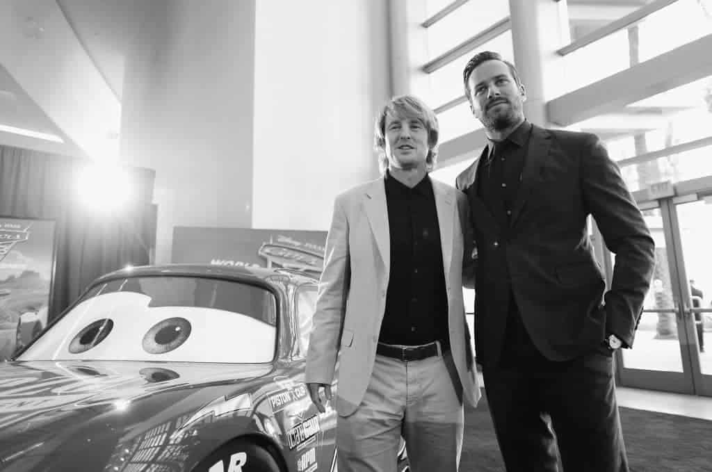 Armie Hammer and Owen Wilson are chilling at the Cars 3 Premiere Red Carpet!