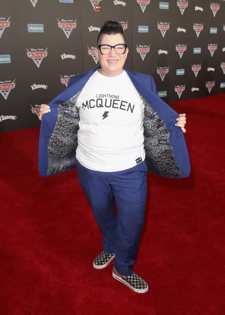 Lea Delaria walks the red carpet at the Cars 3 Premiere and Red Carpet.