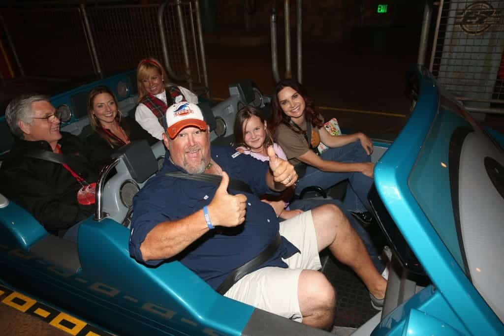 Larry the Cable Guy riding Radiator Springs Racers at the Cars 3 Premiere and After Party!