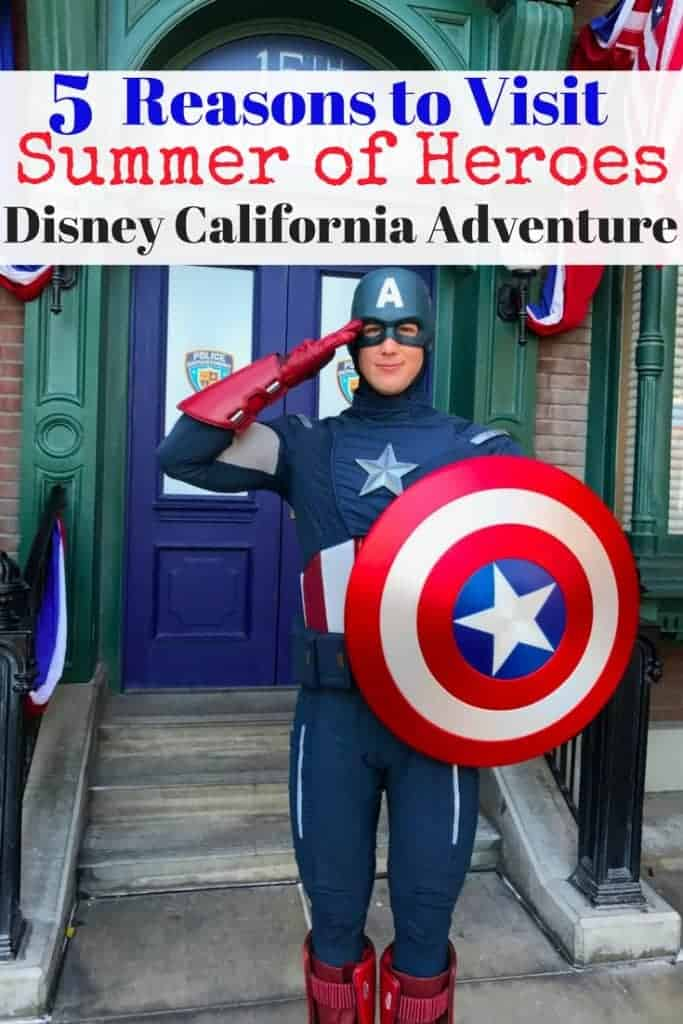 Your guide to Summer of Heroes at Disney California Adventure! If you're a Marvel or super hero fan, you won't want to miss new rides (like Guardians of the Galaxy -Mission: BREAKOUT!), amazing food like Spider-Man doughnuts, free face painting, and Avengers Training at Disneyland this summer! And meet Captain America, Hawkeye, Black Widow, and Spider-Man!